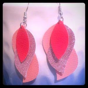 Dangle pink earrings!